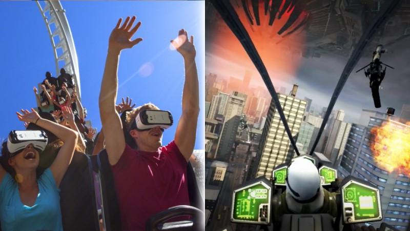 De la réalité virtuelle sur des montagnes russes